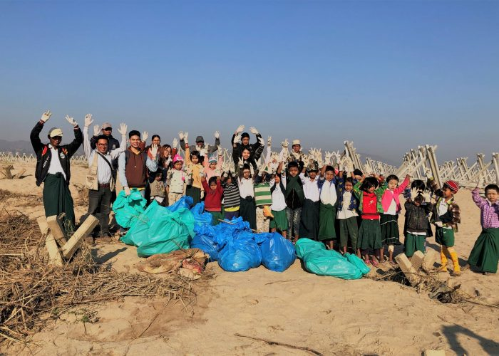 Clean Campaign in Kyun Sin Village
